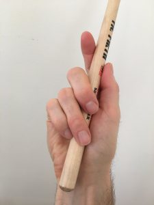 center palm drum stick placement grip