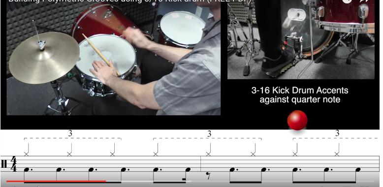 3-16 kick drum grooves