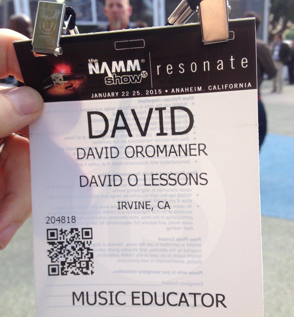 NAMM Badge 2015