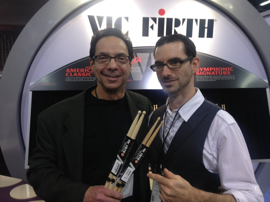 Dave Oromaner and Sam Ruttenberg Vic Firth Hingestix