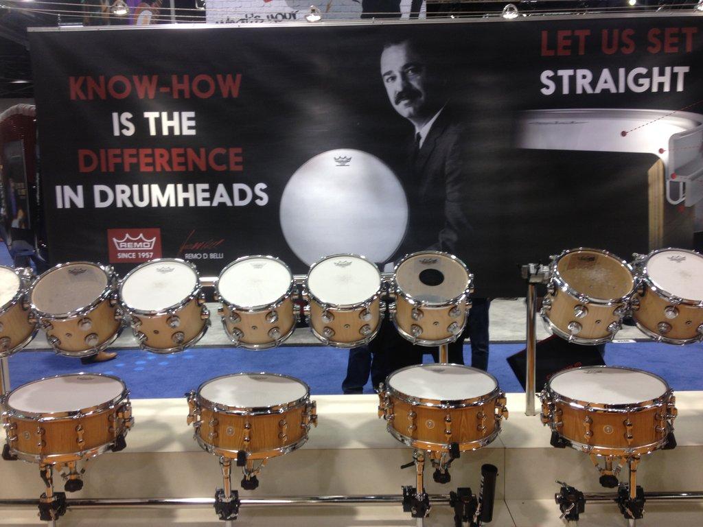 REMO Drum Heads NAMM 2015