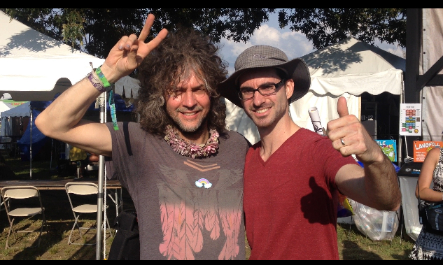 Bonnaroo 2014 David Oromaner and Wayne Coyne